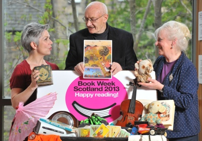 Denise Mina, Mairi Hedderwick and Richard Holloway at the launch of the Treasures campaign last week, by RobMcDougall.com