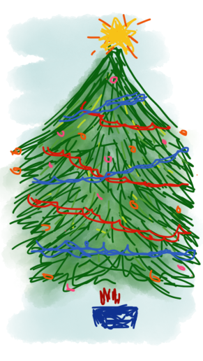 A Christmas Tree I drew on my phone
