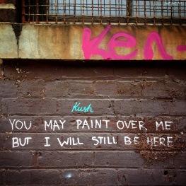 Defiant words in Brooklyn