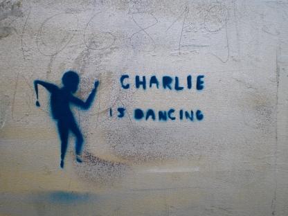 Charlie is dancing