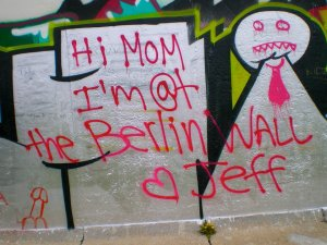Jeff was at the Berlin Wall