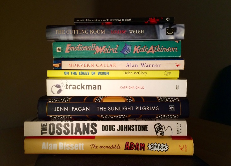 pile of books by scottish authors